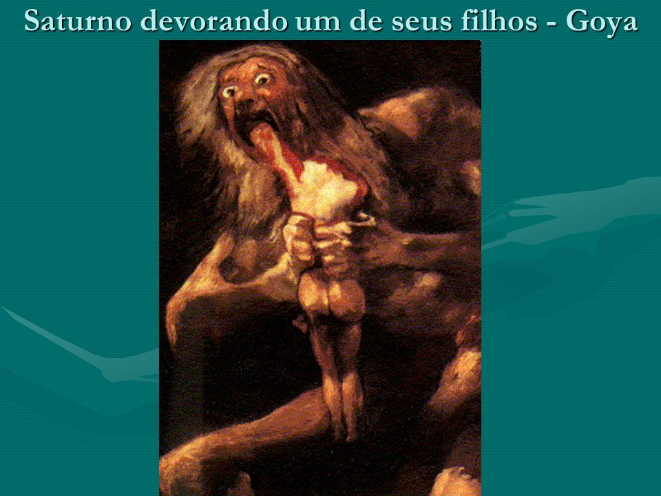 Saturno devorando um de seus filhos - Goya