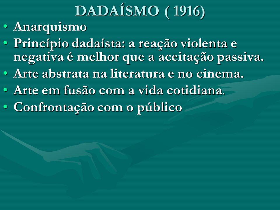 DADAÍSMO ( 1916) Anarquismo