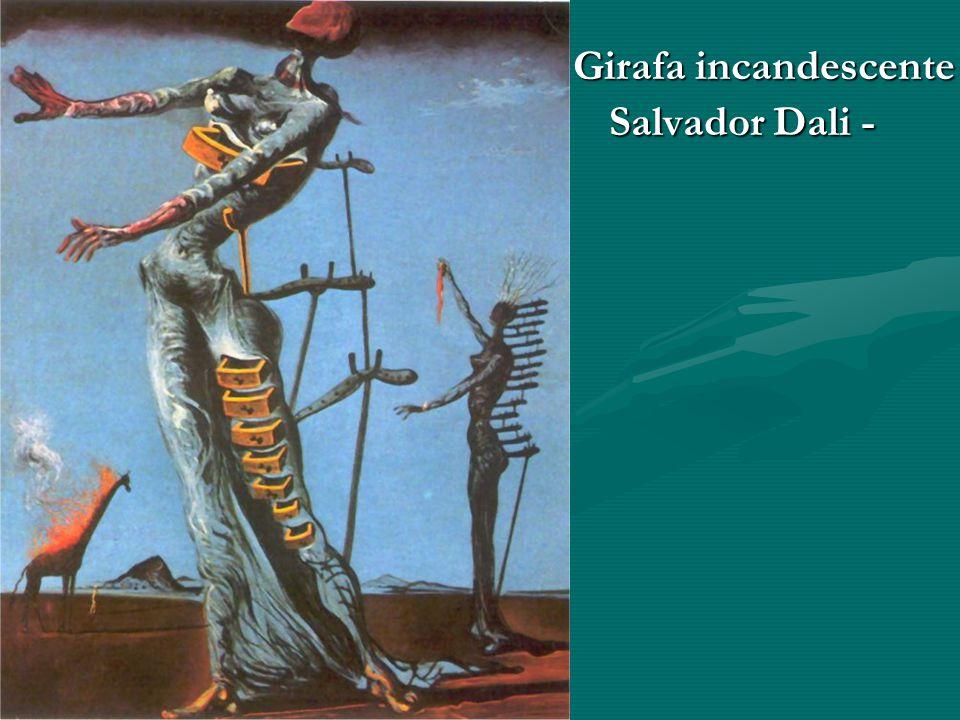 Girafa incandescente Salvador Dali -