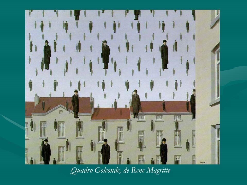 Quadro Golconde, de Rene Magritte