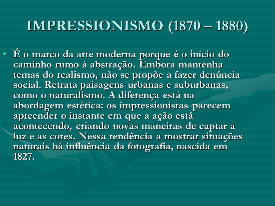 IMPRESSIONISMO (1870 – 1880)