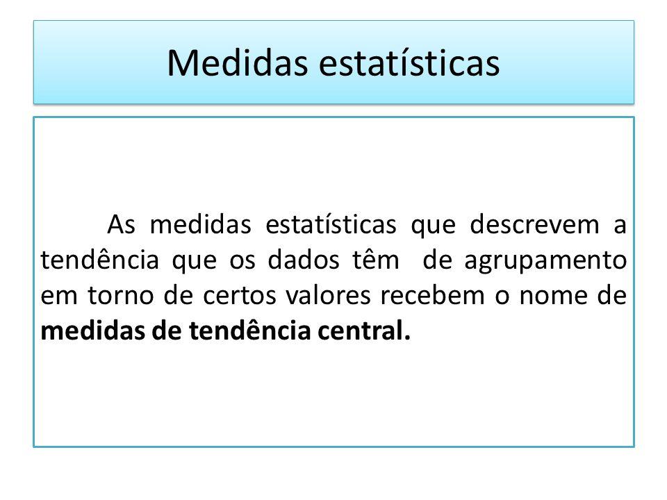 Medidas estatísticas