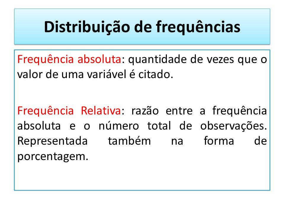Distribuição de frequências