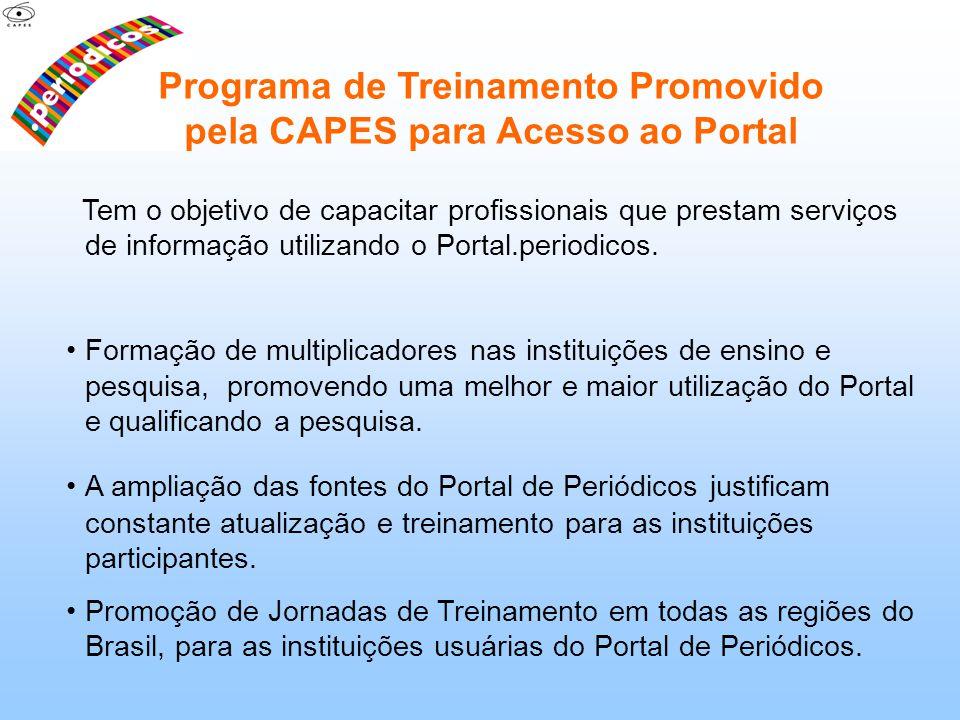 Programa de Treinamento Promovido pela CAPES para Acesso ao Portal