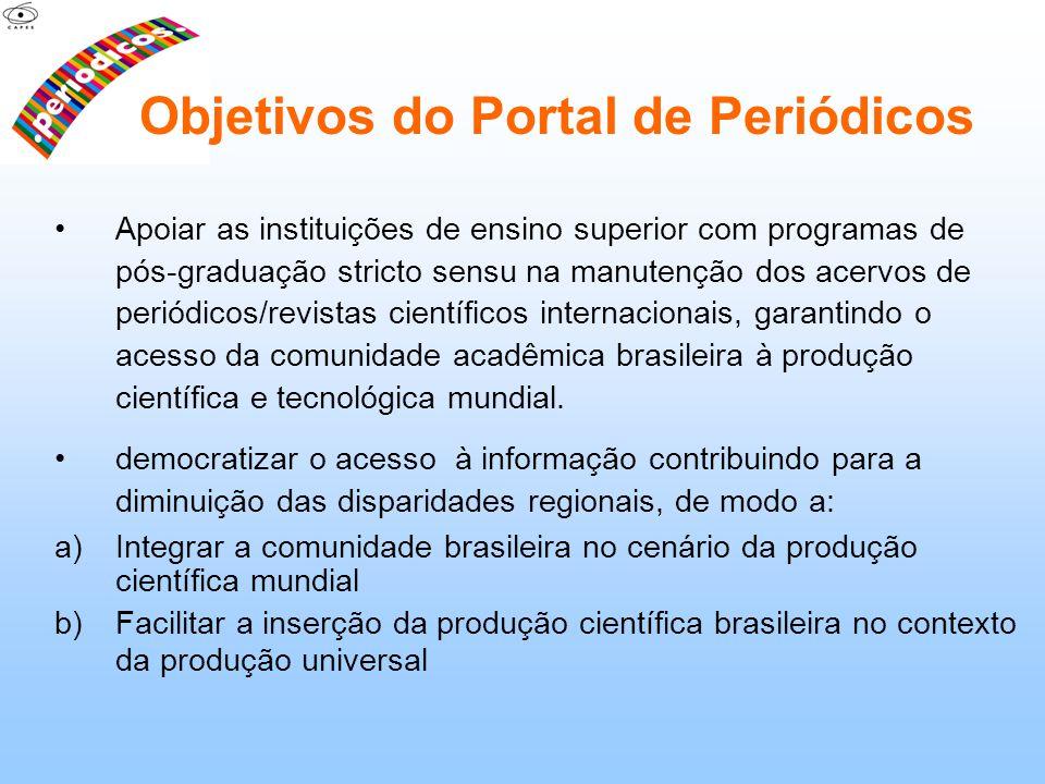 Objetivos do Portal de Periódicos