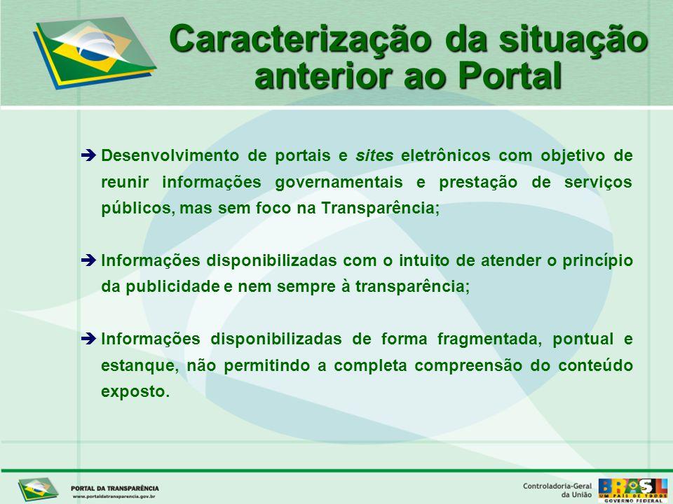 Caracterização da situação anterior ao Portal