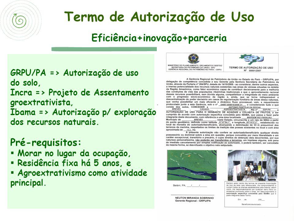 Termo de Autorização de Uso Eficiência+inovação+parceria