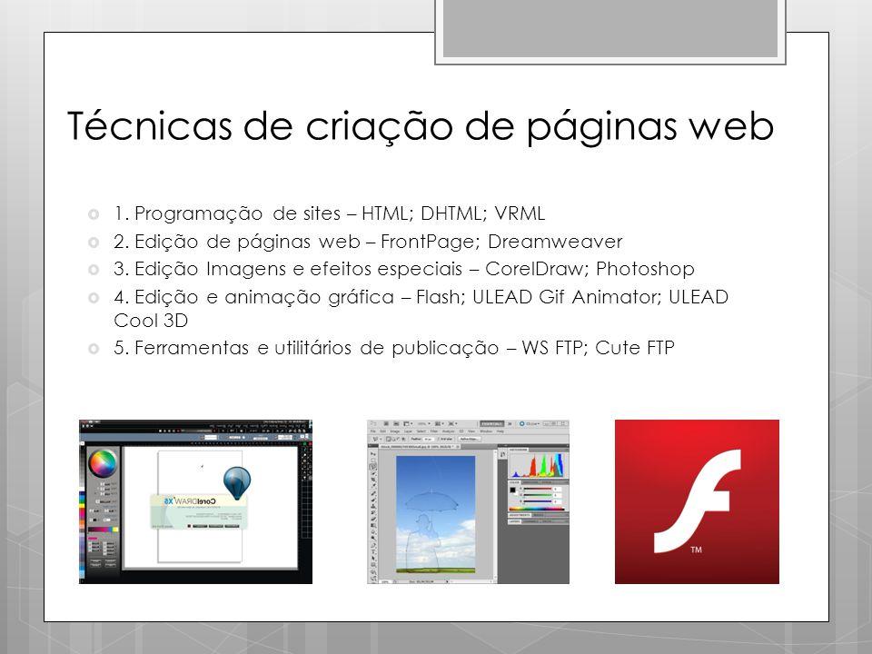 Técnicas de criação de páginas web