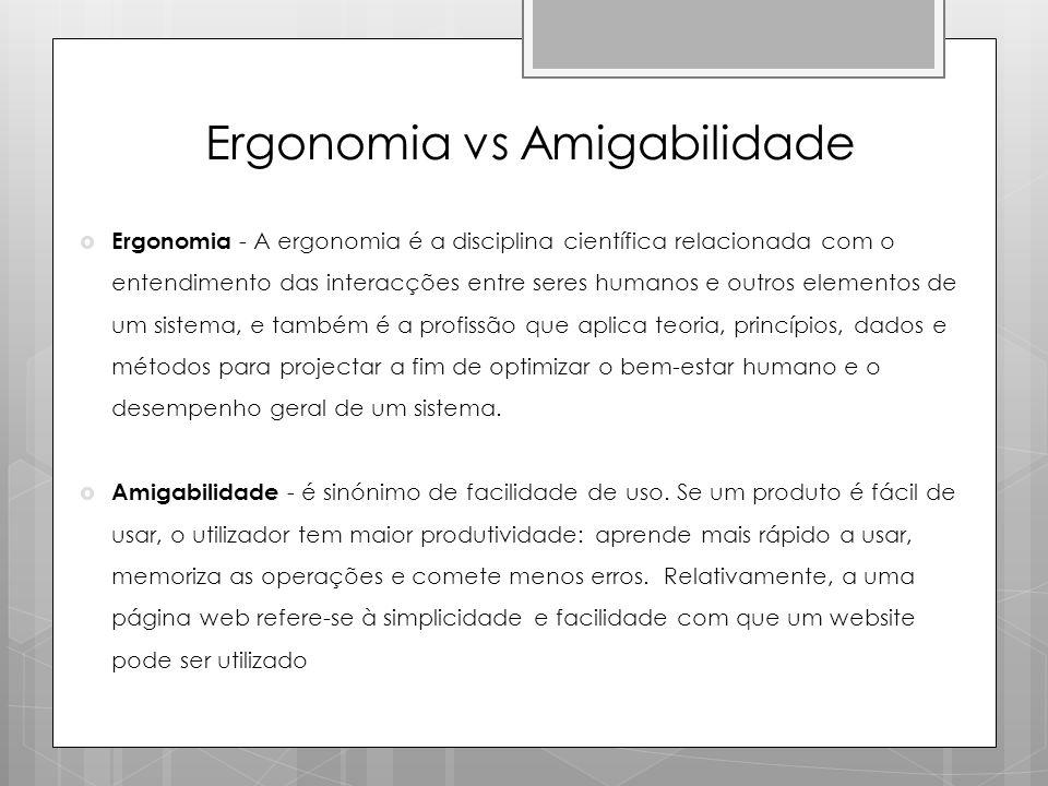 Ergonomia vs Amigabilidade