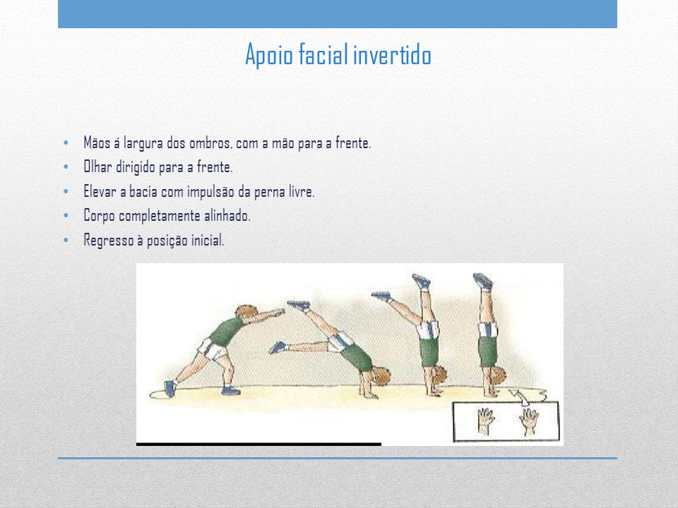 Apoio facial invertido