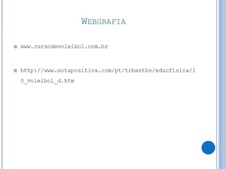 Webgrafia www.cursodevoleibol.com.br