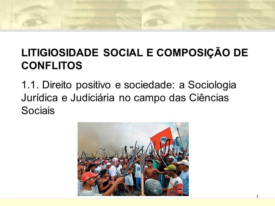 LITIGIOSIDADE SOCIAL E COMPOSIÇÃO DE CONFLITOS