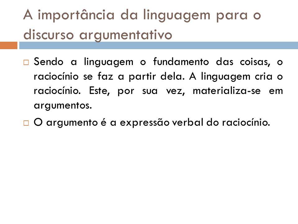 A importância da linguagem para o discurso argumentativo