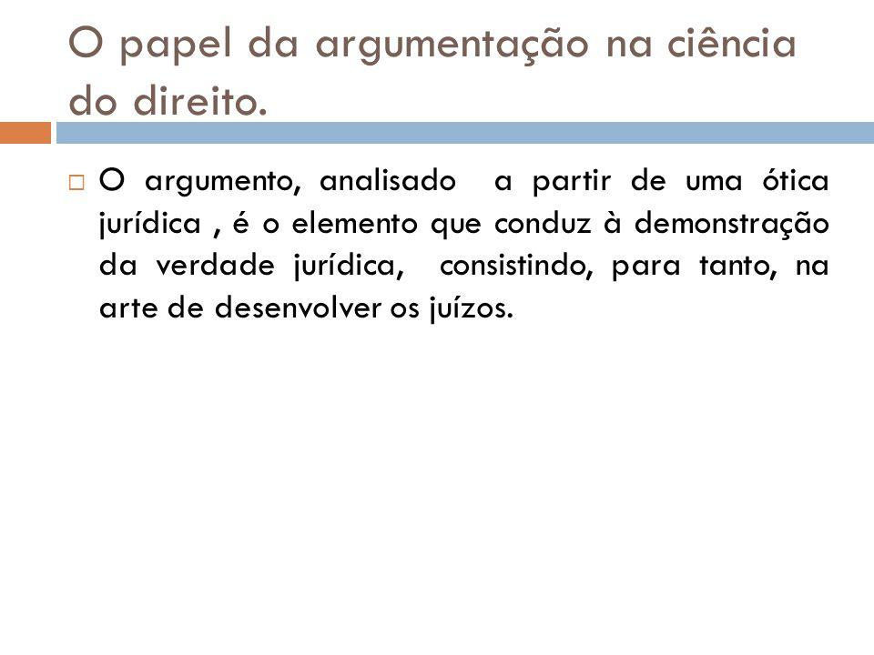 O papel da argumentação na ciência do direito.