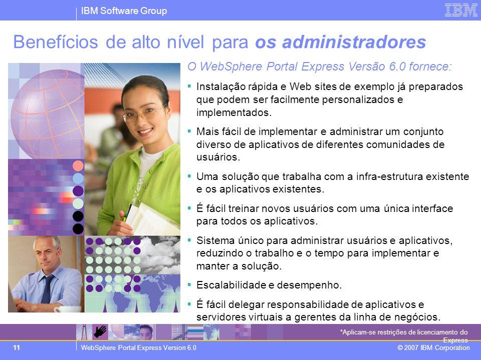 Benefícios de alto nível para os administradores