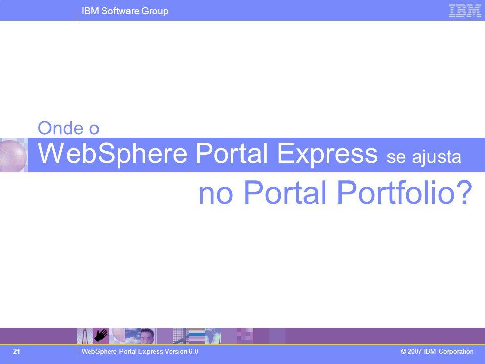 Onde o WebSphere Portal Express se ajusta