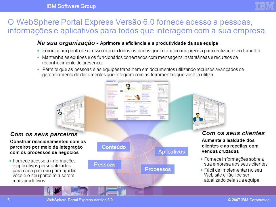 O WebSphere Portal Express Versão 6