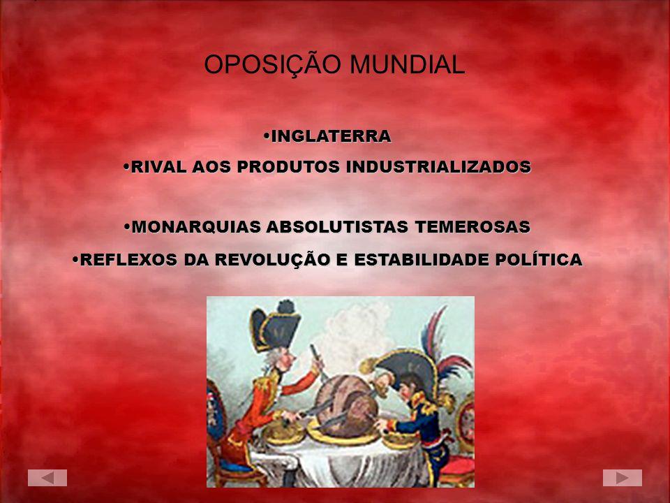 OPOSIÇÃO MUNDIAL INGLATERRA RIVAL AOS PRODUTOS INDUSTRIALIZADOS