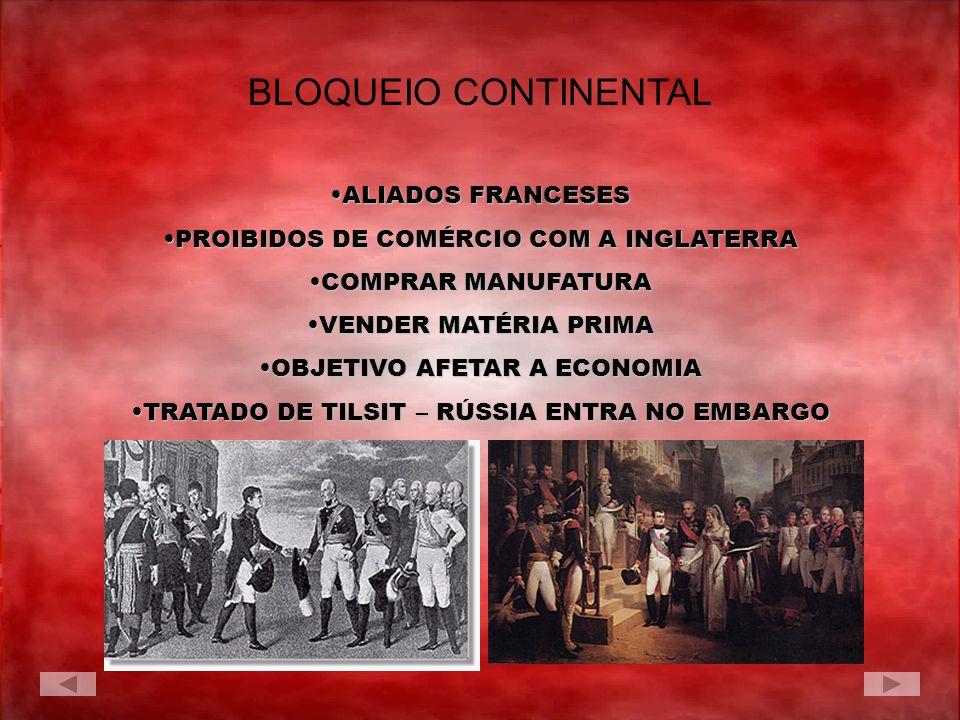 BLOQUEIO CONTINENTAL ALIADOS FRANCESES