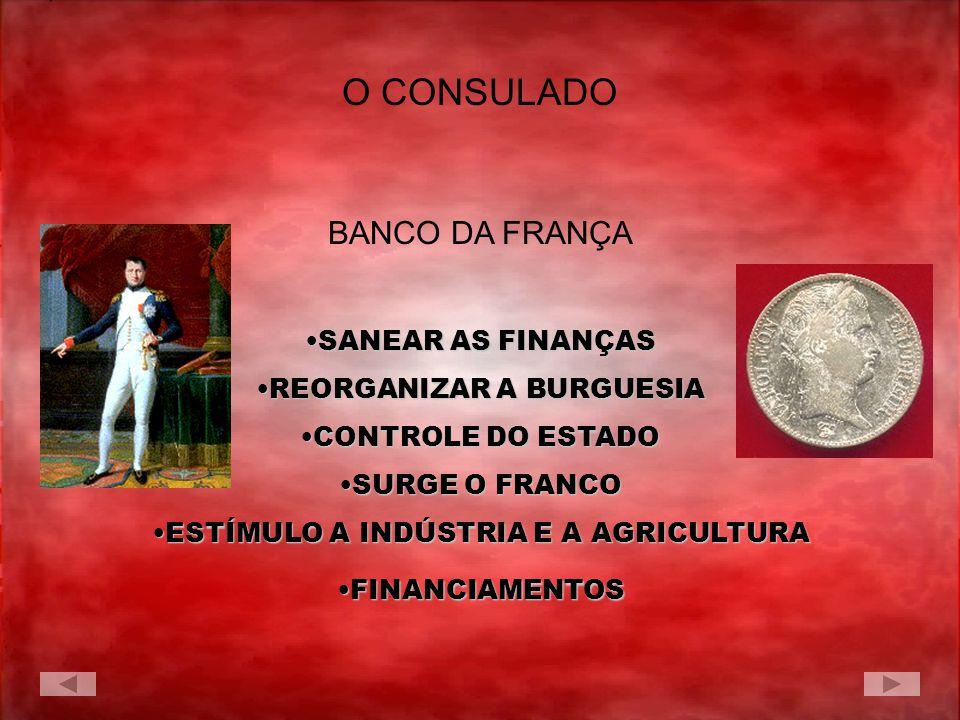 O CONSULADO BANCO DA FRANÇA SANEAR AS FINANÇAS REORGANIZAR A BURGUESIA