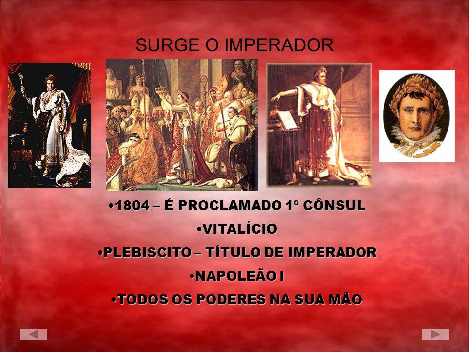 SURGE O IMPERADOR 1804 – É PROCLAMADO 1º CÔNSUL VITALÍCIO