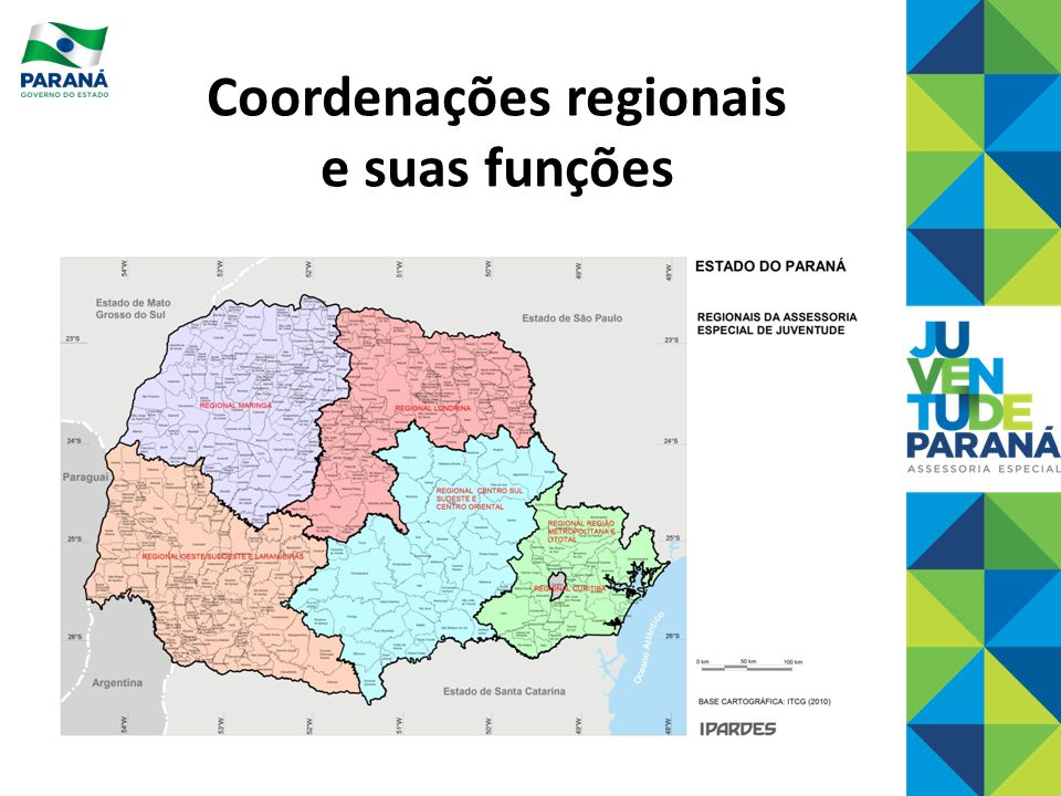 Coordenações regionais e suas funções