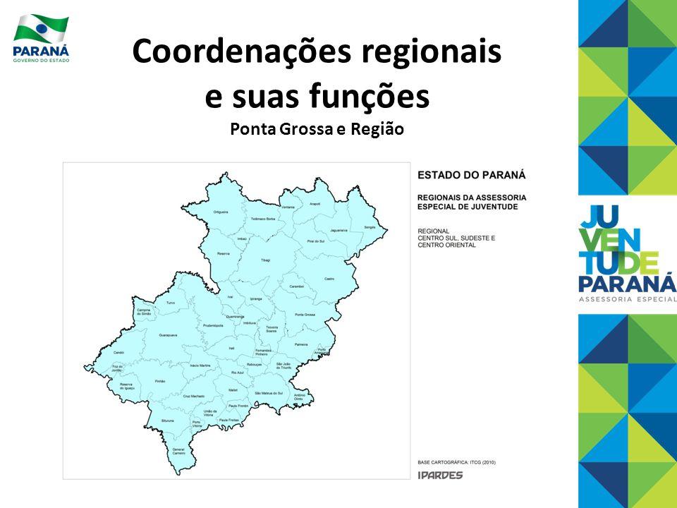 Coordenações regionais e suas funções Ponta Grossa e Região