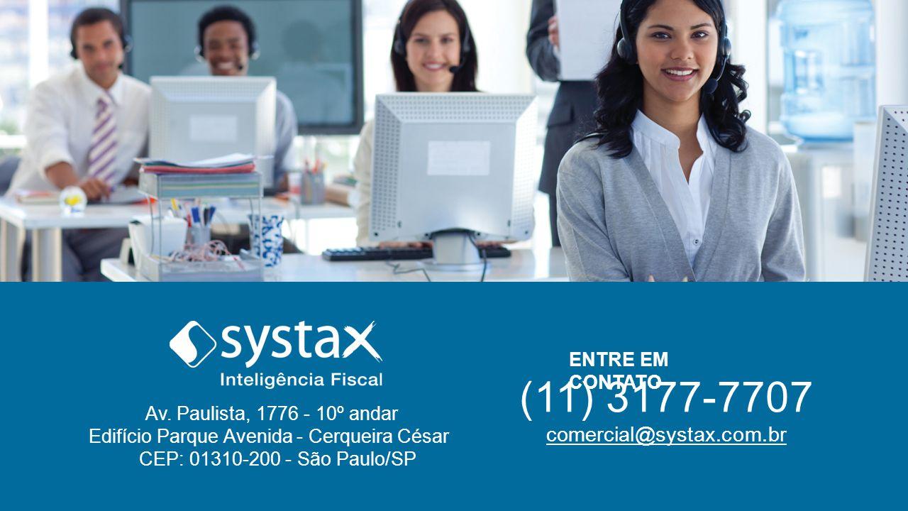 (11) 3177-7707 comercial@systax.com.br ENTRE EM CONTATO