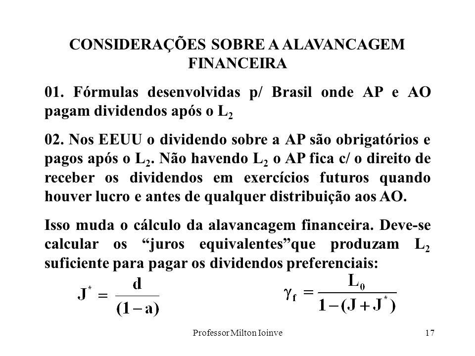 CONSIDERAÇÕES SOBRE A ALAVANCAGEM FINANCEIRA