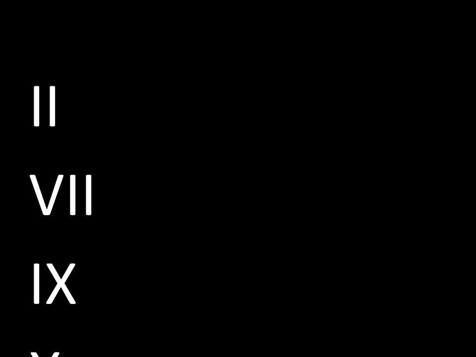 II VII IX X dinamarques 6