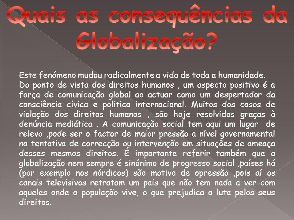 Quais as consequências da Globalização