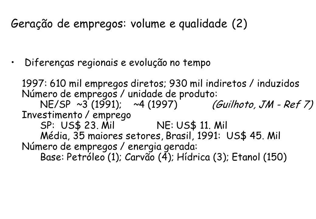 Geração de empregos: volume e qualidade (2)
