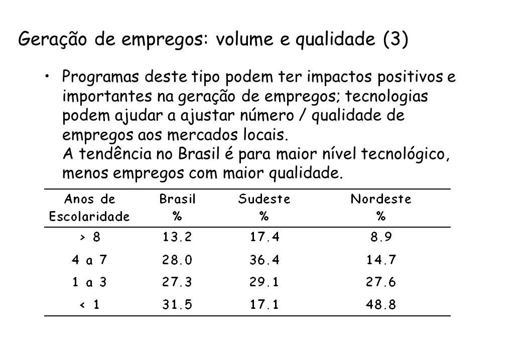 Geração de empregos: volume e qualidade (3)
