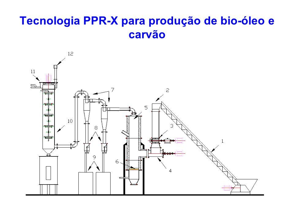 Tecnologia PPR-X para produção de bio-óleo e carvão