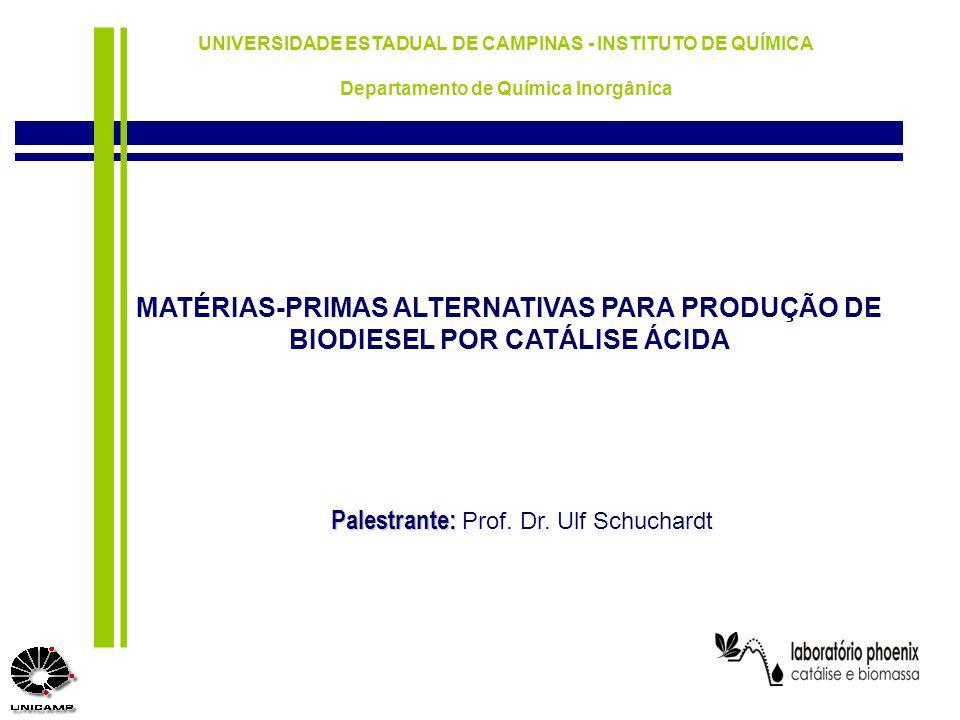 Palestrante: Prof. Dr. Ulf Schuchardt