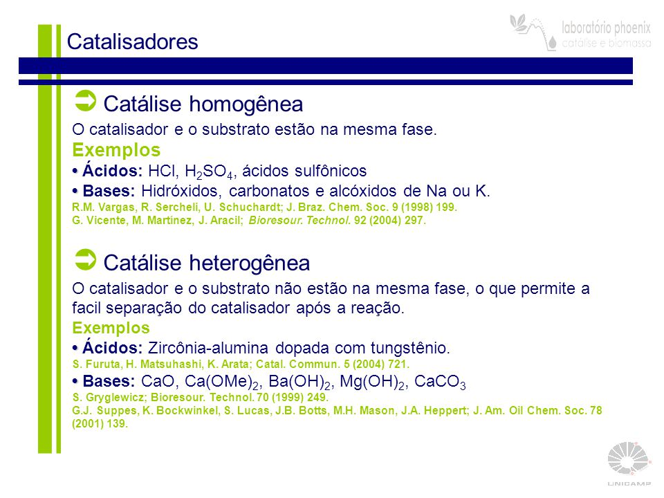  Catálise heterogênea