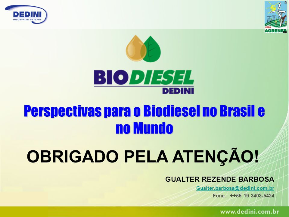 Perspectivas para o Biodiesel no Brasil e no Mundo