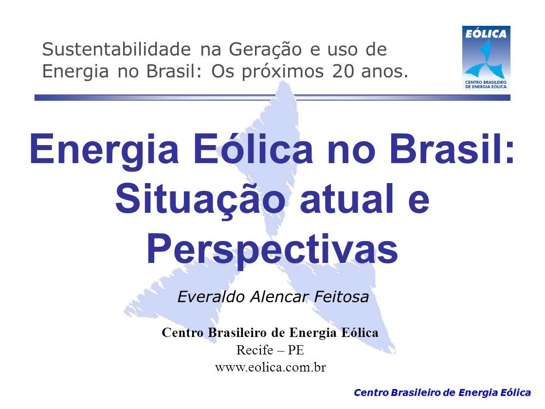 Energia Eólica no Brasil: Situação atual e Perspectivas
