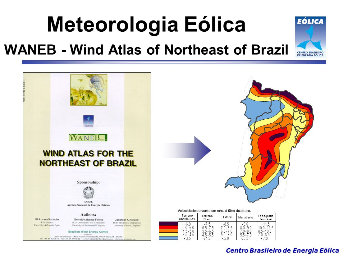Meteorologia Eólica WANEB - Wind Atlas of Northeast of Brazil
