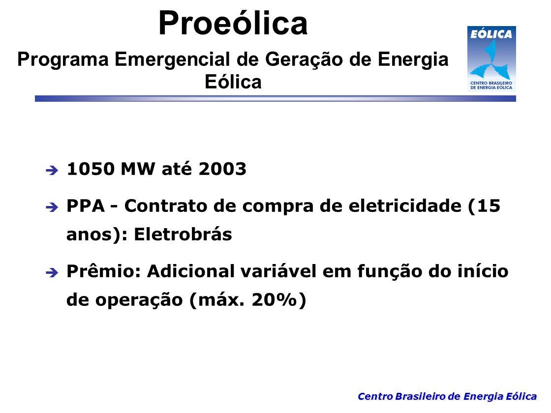 Proeólica Programa Emergencial de Geração de Energia Eólica