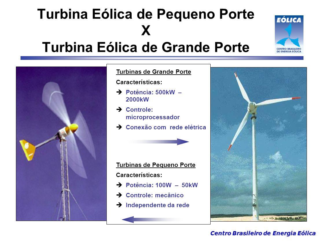 Turbina Eólica de Pequeno Porte X Turbina Eólica de Grande Porte
