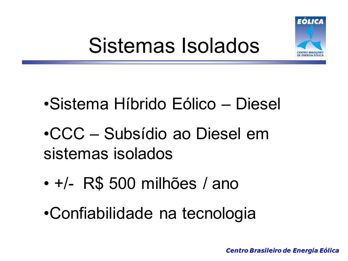 Sistemas Isolados Sistema Híbrido Eólico – Diesel