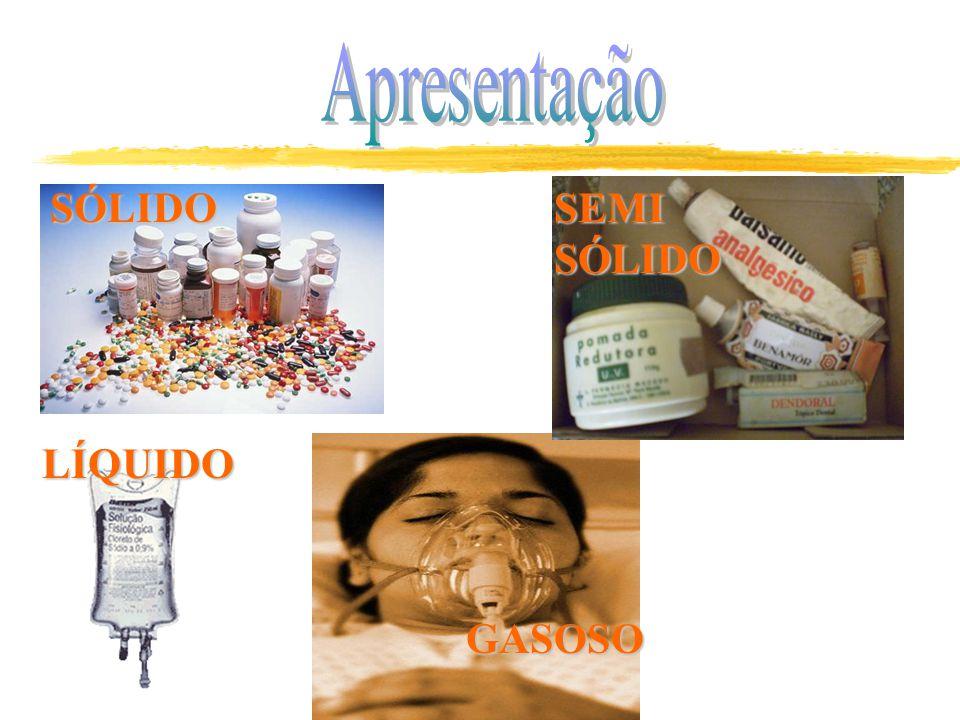 Apresentação SÓLIDO SEMI SÓLIDO GASOSO LÍQUIDO