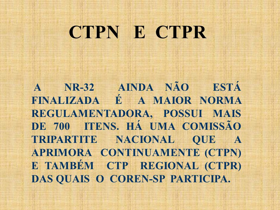 CTPN E CTPR