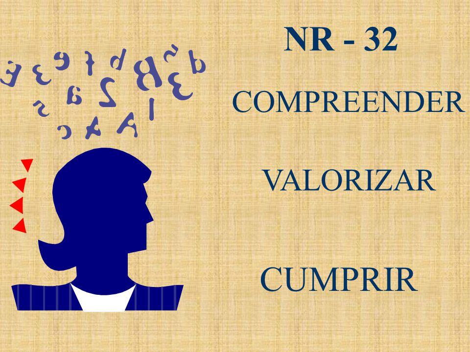NR - 32 COMPREENDER VALORIZAR NR - 32 CUMPRIR