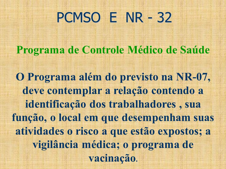 Programa de Controle Médico de Saúde