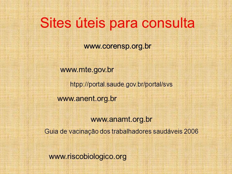 Sites úteis para consulta