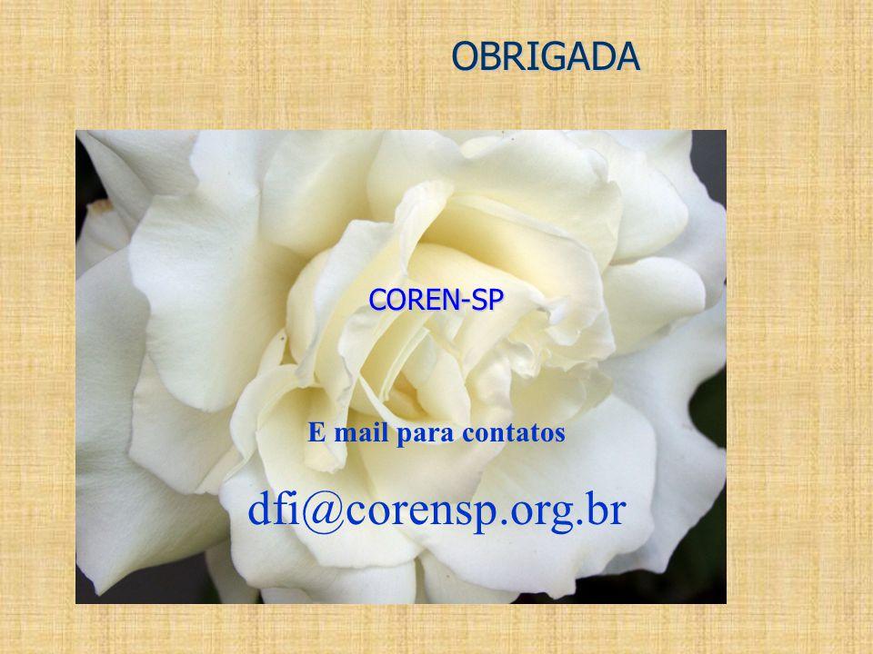 dfi@corensp.org.br OBRIGADA COREN-SP E mail para contatos