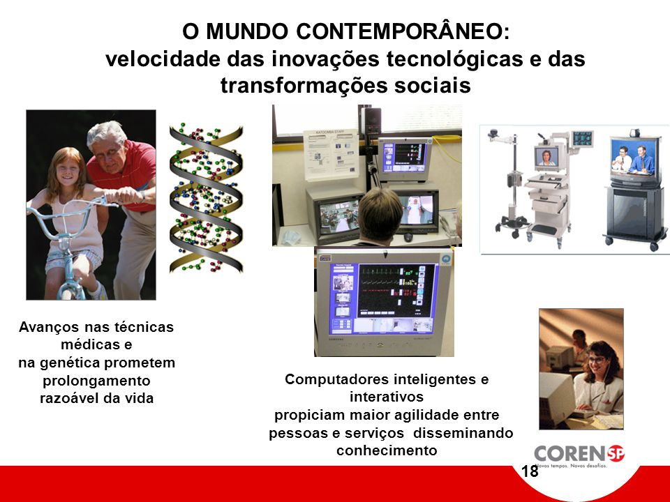 O MUNDO CONTEMPORÂNEO: velocidade das inovações tecnológicas e das transformações sociais