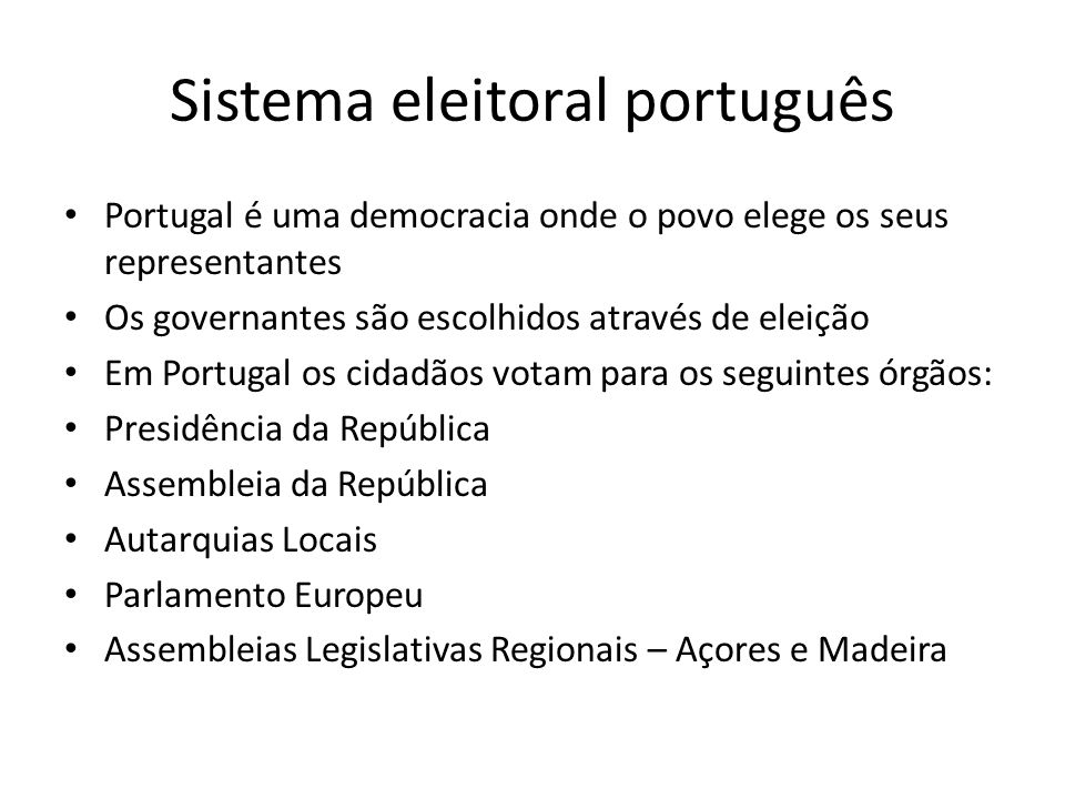 Sistema eleitoral português
